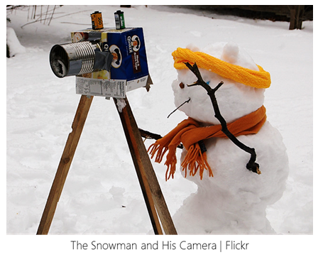 Snowman and Camera