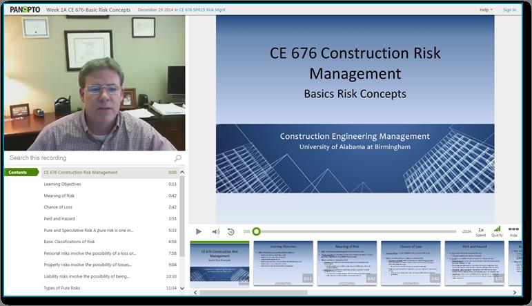 コンストラクション・リスク・マネジメントの基礎 - Panopto Video Presentation Software