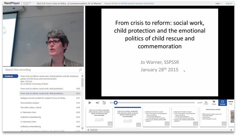 Crisis to Reform in Social Work - Panopto Video Presentation Software