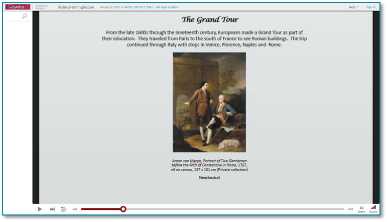 History Painting - Panopto Video Presentation Software