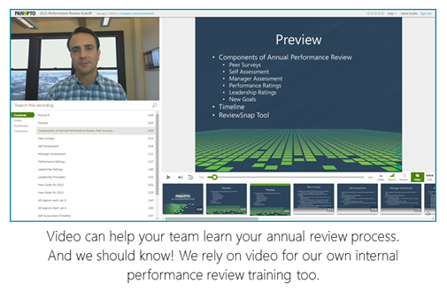 Performance Review Training Example - Panopto Video Platform