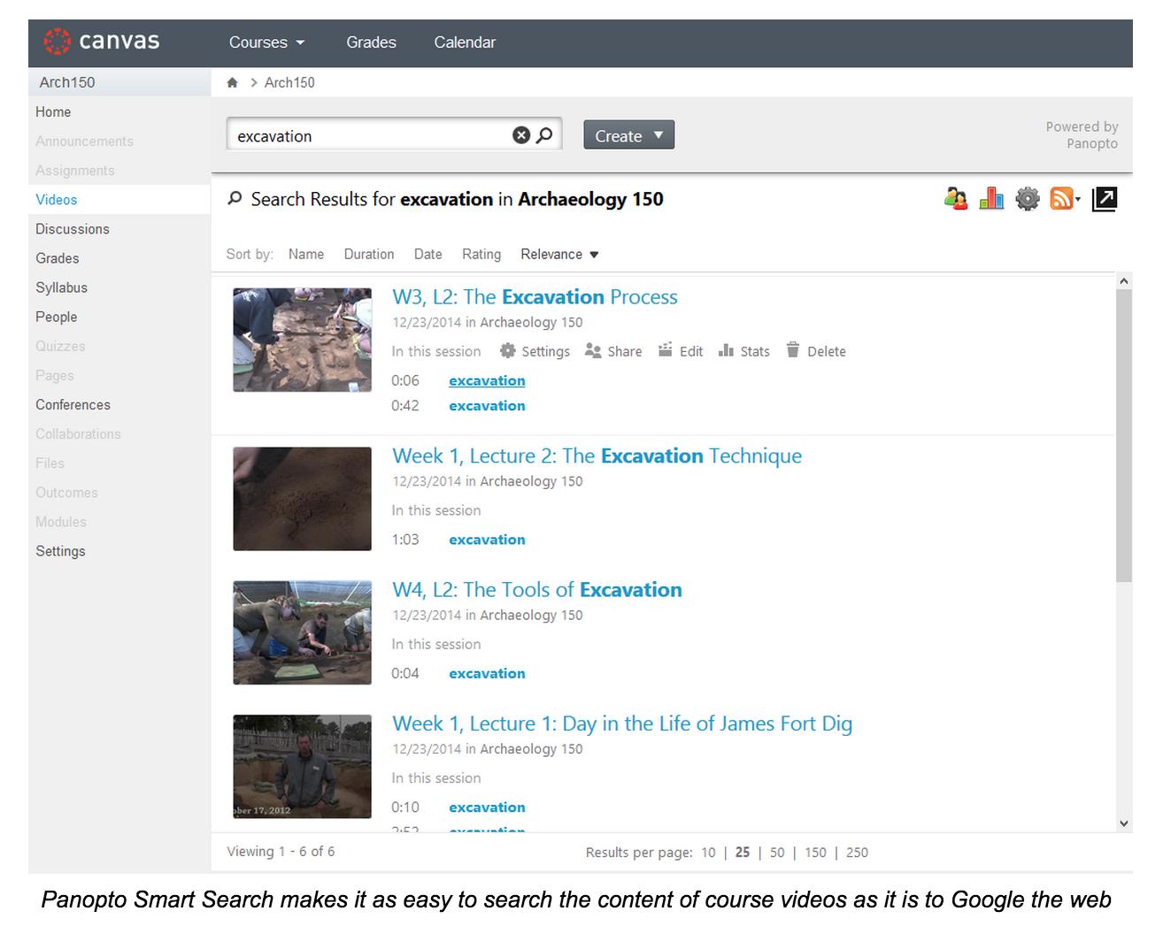 과정 비디오의 콘텐츠 검색-Panopto 비디오 플랫폼