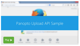 API - Panopto Video Learning Platform