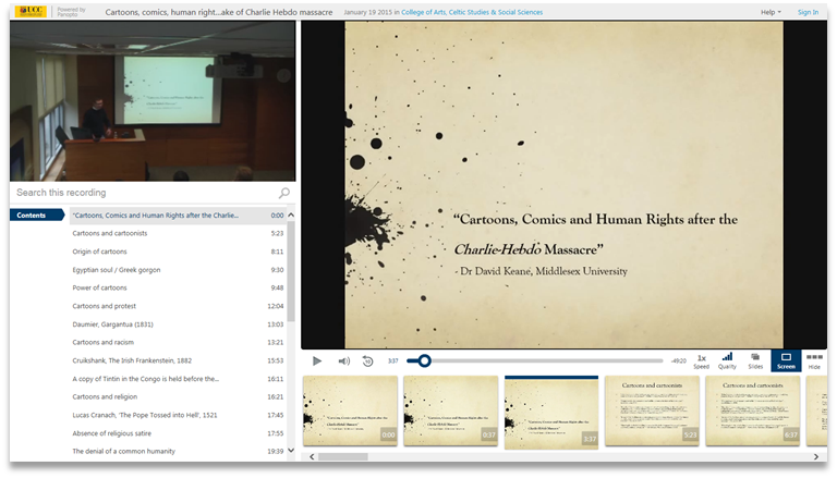 Cartoons, Comics, and Human Rights - Panopto Video Presentation Software
