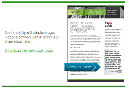 City and Guilds Case Study - Panopto Social Learning Video Platform