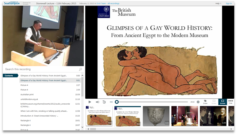 Glimpses of a Gay World History - Panopto Video Presentation Software