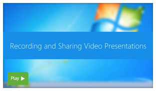 Recording Video Presentations - Panopto Video Learning Platform