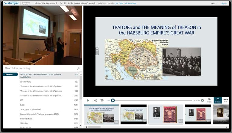 大戦中の裏切り者と反逆者 - Panopto Video Presentation Software