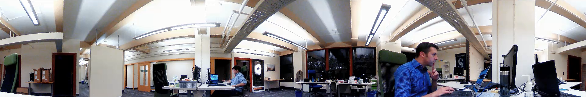 360-degree panorama as captured by the V.360° - conference room recording equipment