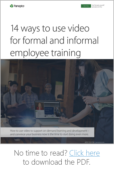 14 Creative Ides For Using Video In Employee Training