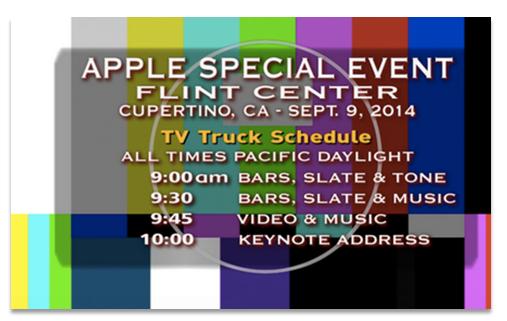 Apple Live Stream Video Fehler 2014