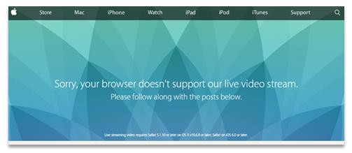 Apple Live Stream Video Fehler - Panopto Live Streaming für Events Blogbeitrag