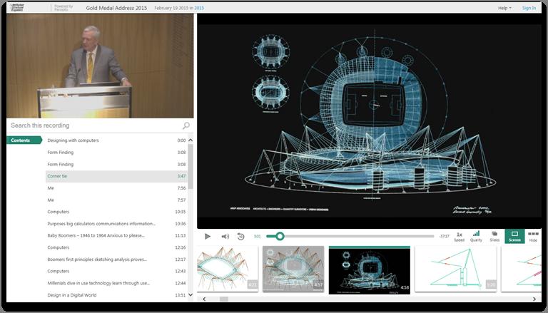 Gestalten mit Computern - Panopto Video-Präsentationsplattform