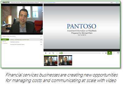 Financial Services Businesses create new opportunities with video - Panopto Video Platform
