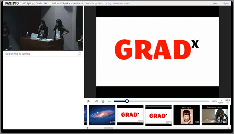 GradX - Panopto Video-Präsentationsplattform