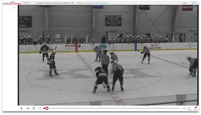 Kents Hill Hockey - Panopto Video Knowledge Sharing Platform