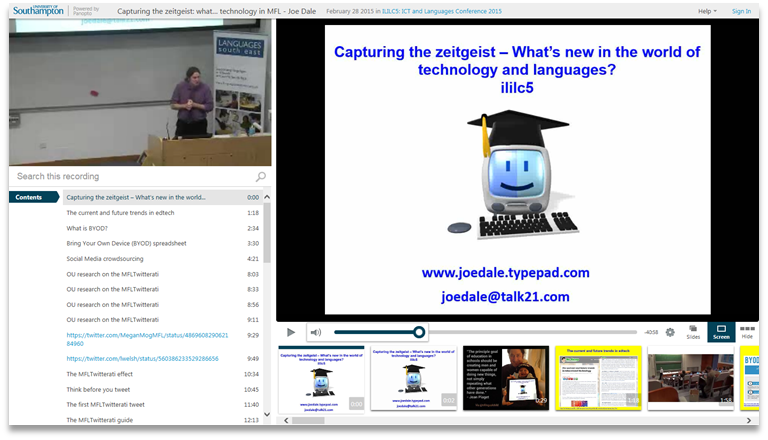 New in the world of technology and languages - Panopto Video Knowledge Sharing Platform