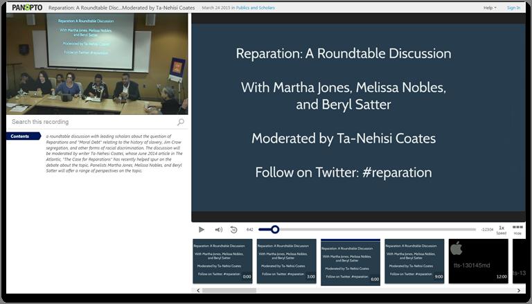 リパレーション円卓会議 - Panopto Video Presentation Platform