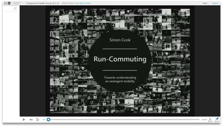 Run Commuting - Panopto Video Presentation Platform