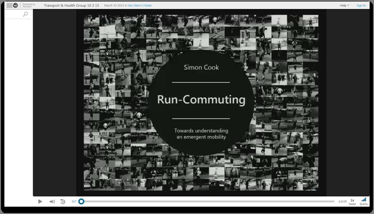 Run Commuting - Panopto Video-Präsentationsplattform