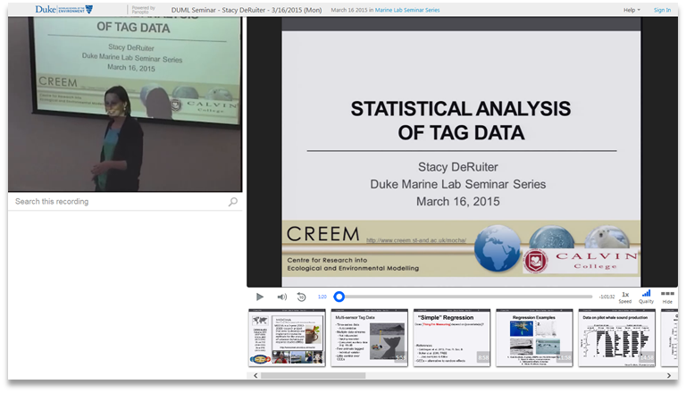Statistical Analysis of Tag Data - Panopto Video Presentation Software