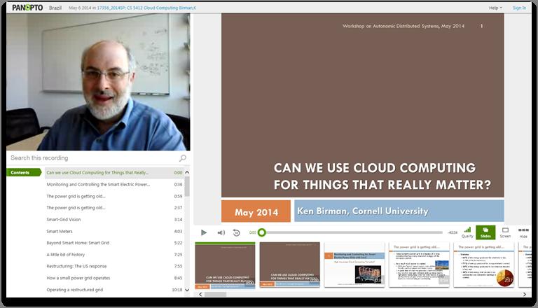 クラウドコンピューティングを本当に重要なことに使えるか - Panopto Video Presentation Platform