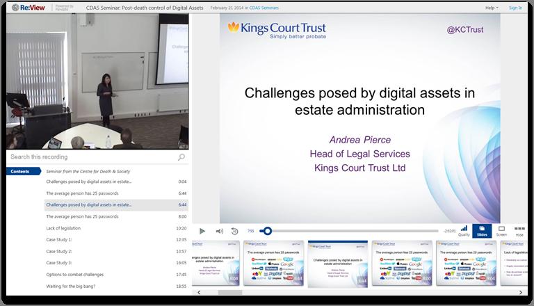 財産管理におけるデジタル資産 - Panopto Video Presentation Platform