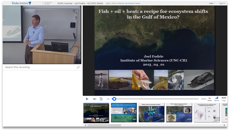 Ecosystem Shifts in the Gulf of Mexico - Panopto Video Presentation Platform