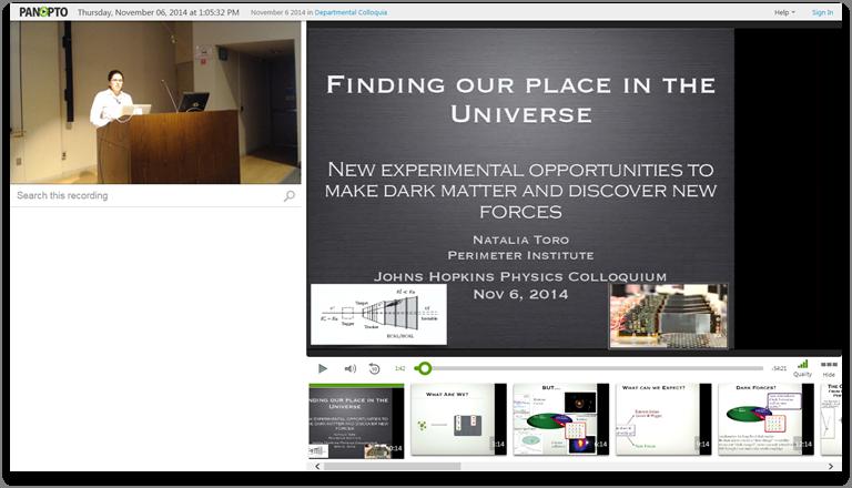 宇宙の中の私たちの場所を見つける - Panopto Video Presentation Platform