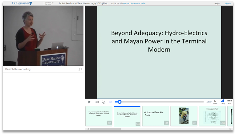 Hydro Electrics and Mayan Power - Panopto Video Presentation Platform