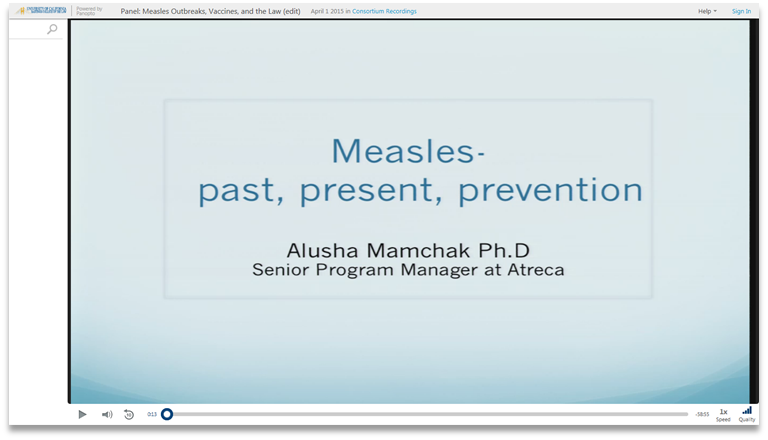 Measles Vaccines and the Law - Panopto Video Presentation Software
