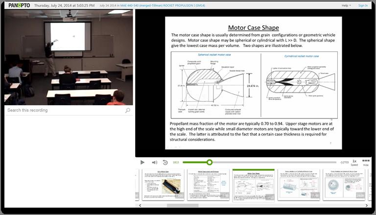 ロケットサイエンス - Panopto Video Presentation Platform