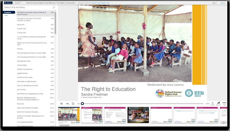 教育を受ける権利 - Panopto Video Presentation Platform