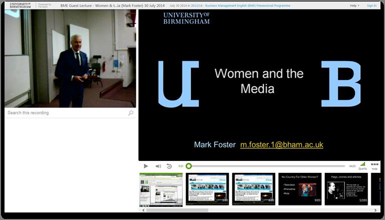 女性とメディア - Panopto Video Presentation Platform