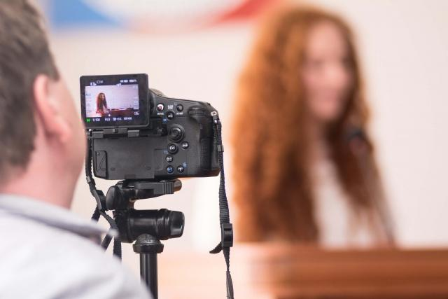 Recording student presentations for class assignments