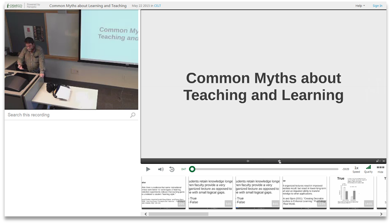 Common Myths About Teaching - Panopto Video Presentation Platform