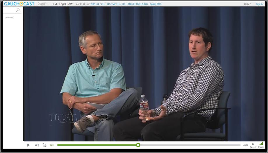 Distinguished Speakers Dan Engel - Panopto Video Presentation Platform