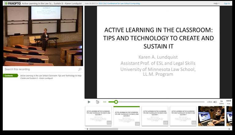 L'apprentissage actif en classe - Logiciel de présentation vidéo Panopto