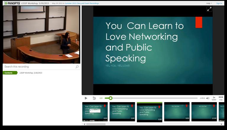 네트워킹을 사랑하는 법 배우기-Panopto 비디오 프레젠테이션 플랫폼