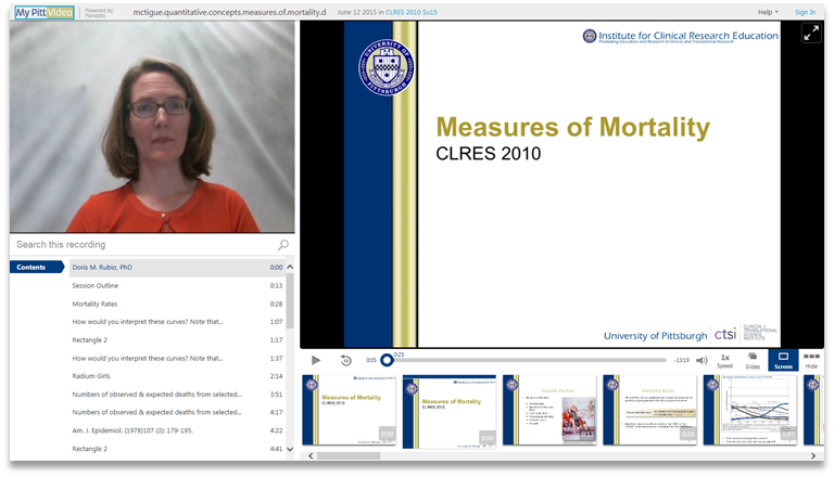 Measures of Mortality - Panopto Video Presentation Software