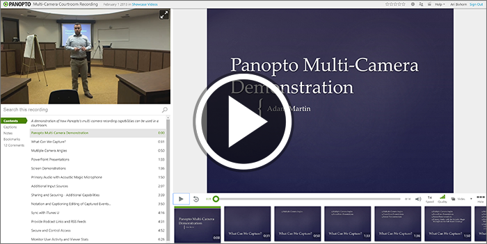 Panopto Multi Camera Demonstration