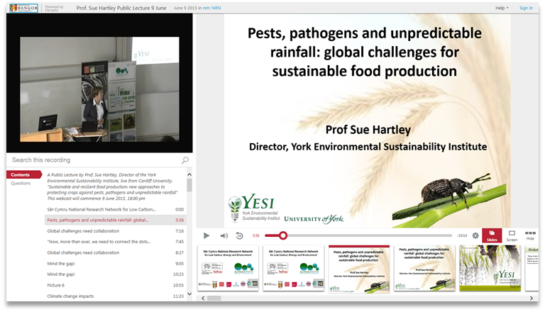 Pets Pathogens Rainfall - Panopto Video Presentation Software