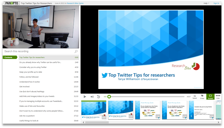 Top Twitter Tips - Panopto Video Presentation Software