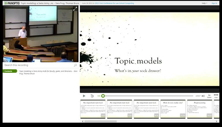 Modèles de sujets - Logiciel de présentation vidéo Panopto