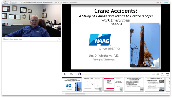 Crane Accidents - Panopto Video Presentation Software