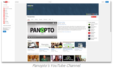 Panopto YouTube Channel