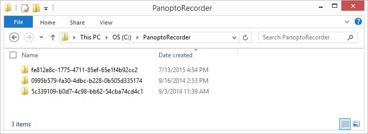 Panopto 레코더 디렉토리-Panopto 비디오 CMS