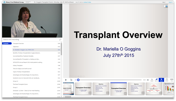 Renal Transplant Overview - Panopto Video Presentation Software