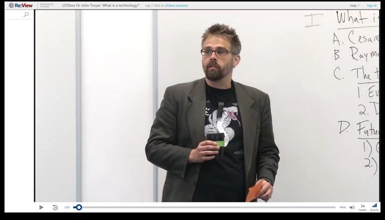 Qu'est-ce qu'une technologie - Plateforme de présentations vidéo Panopto