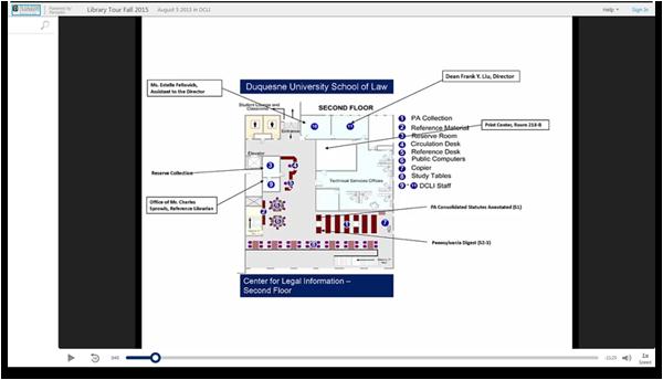 Duquesne University Library Tour - Panopto Video-Präsentations-Software